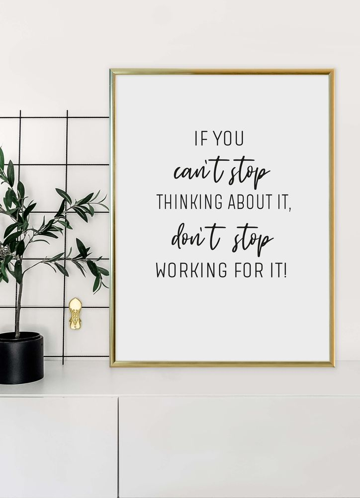 If you can´t stop text poster