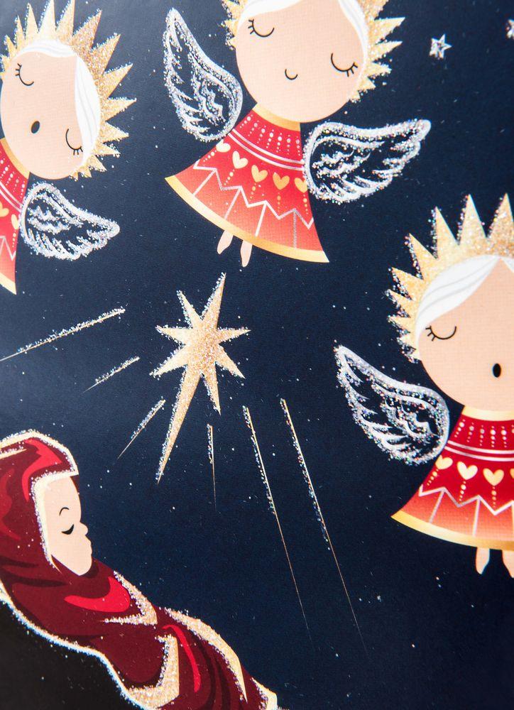 Jesusbarnet och änglakör julkort