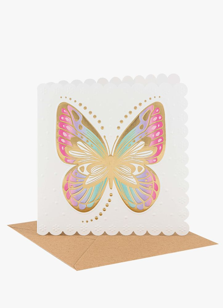 Fjäril gratulationskort