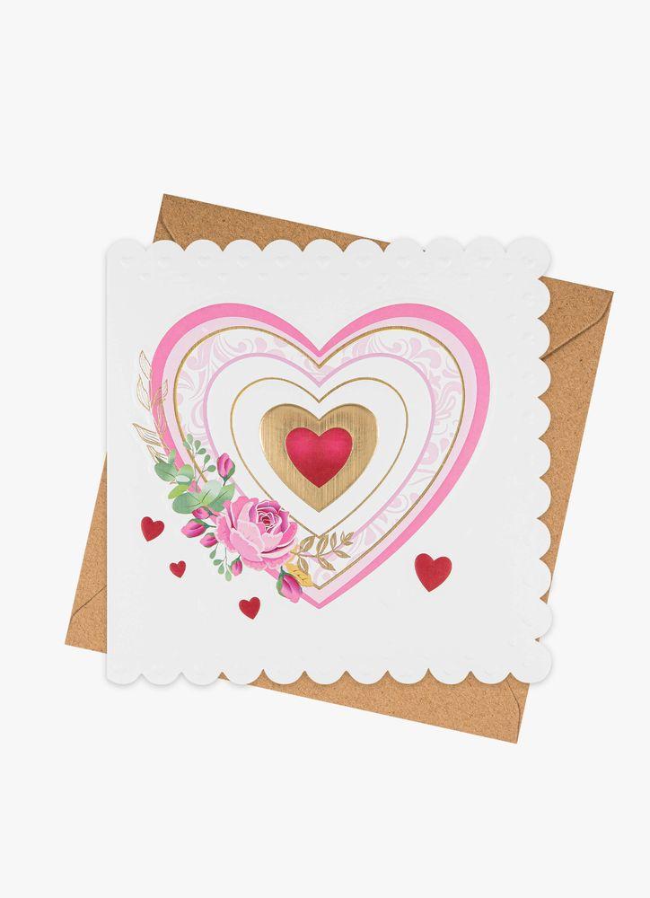 Hjärta gratulationskort