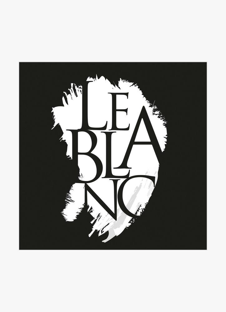 Le blanc text poster