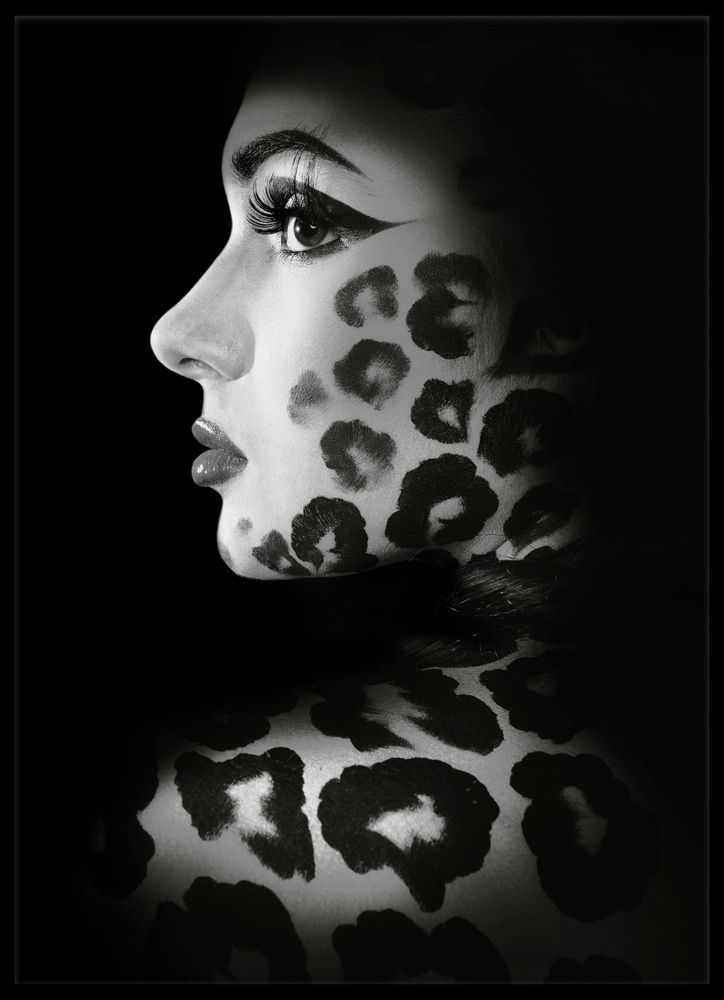 Leopard kvinna poster