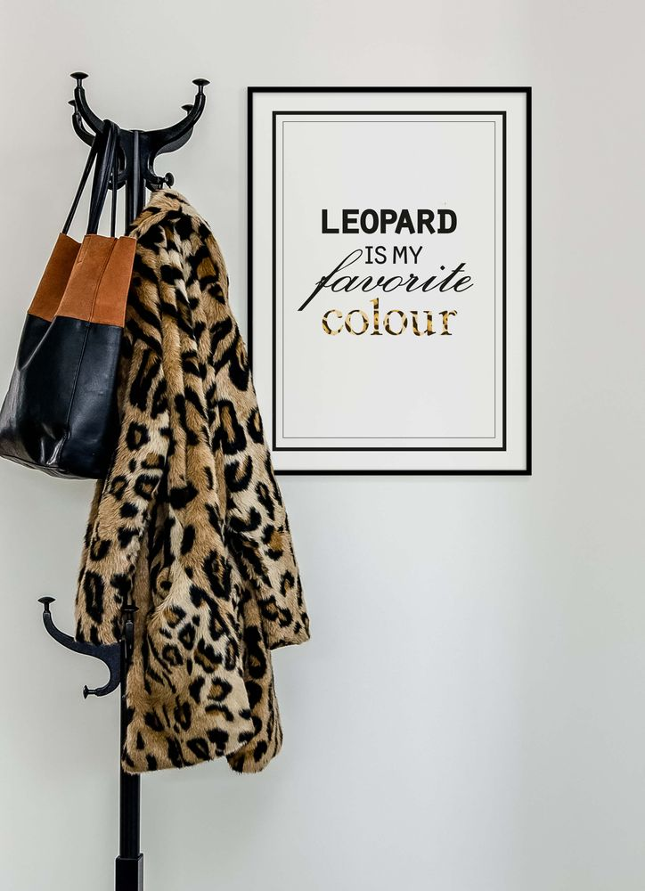 Leopard is my favorite colour text poster
