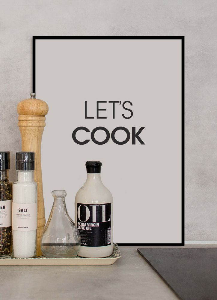 Let´s cook text poster