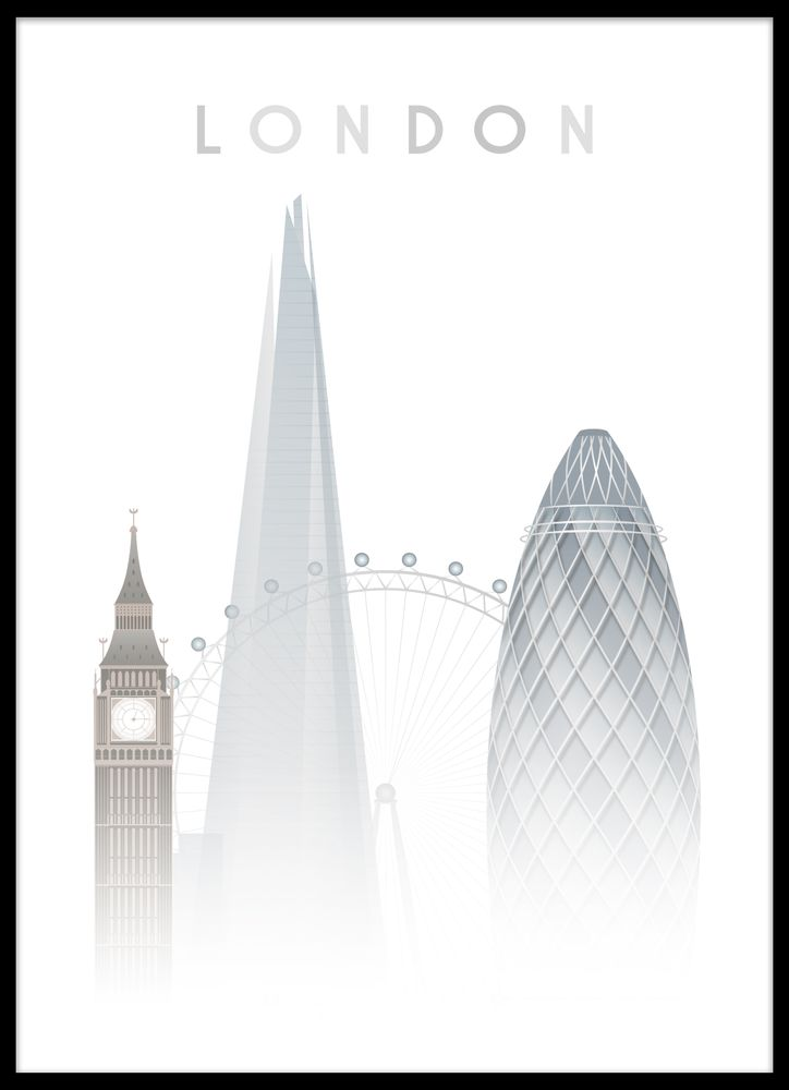 London modern poster