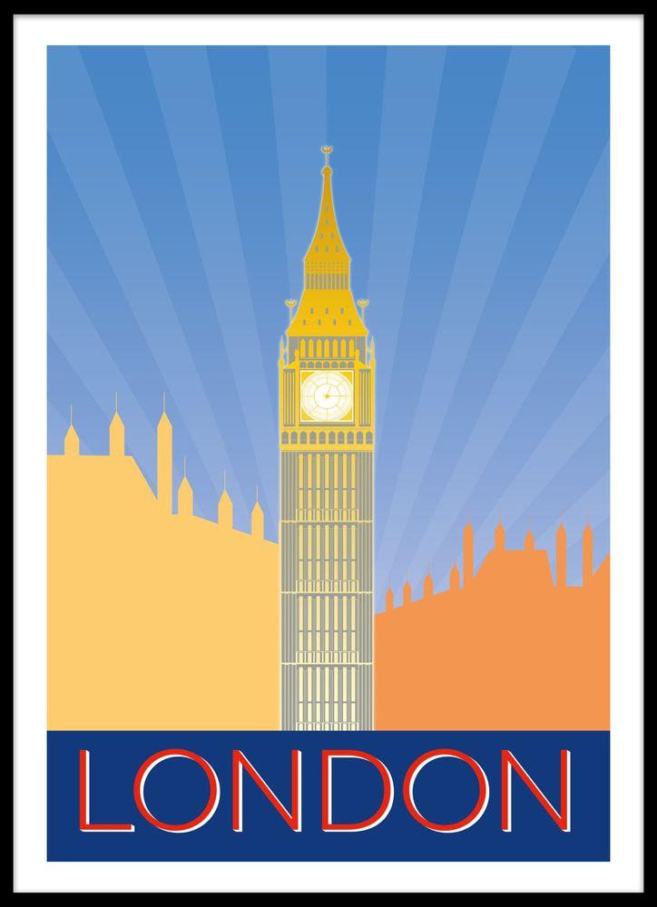 London retro poster