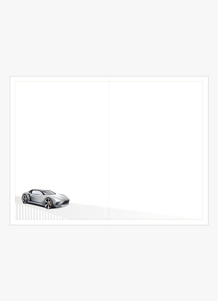 Sportbil i silver kort