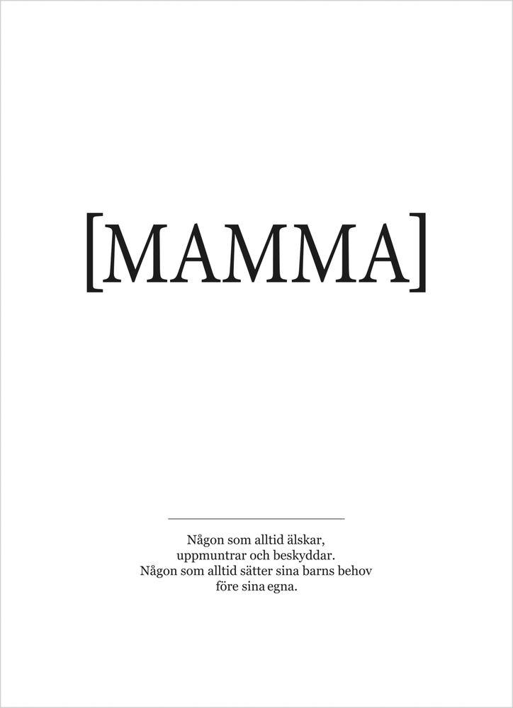 Mamma poster