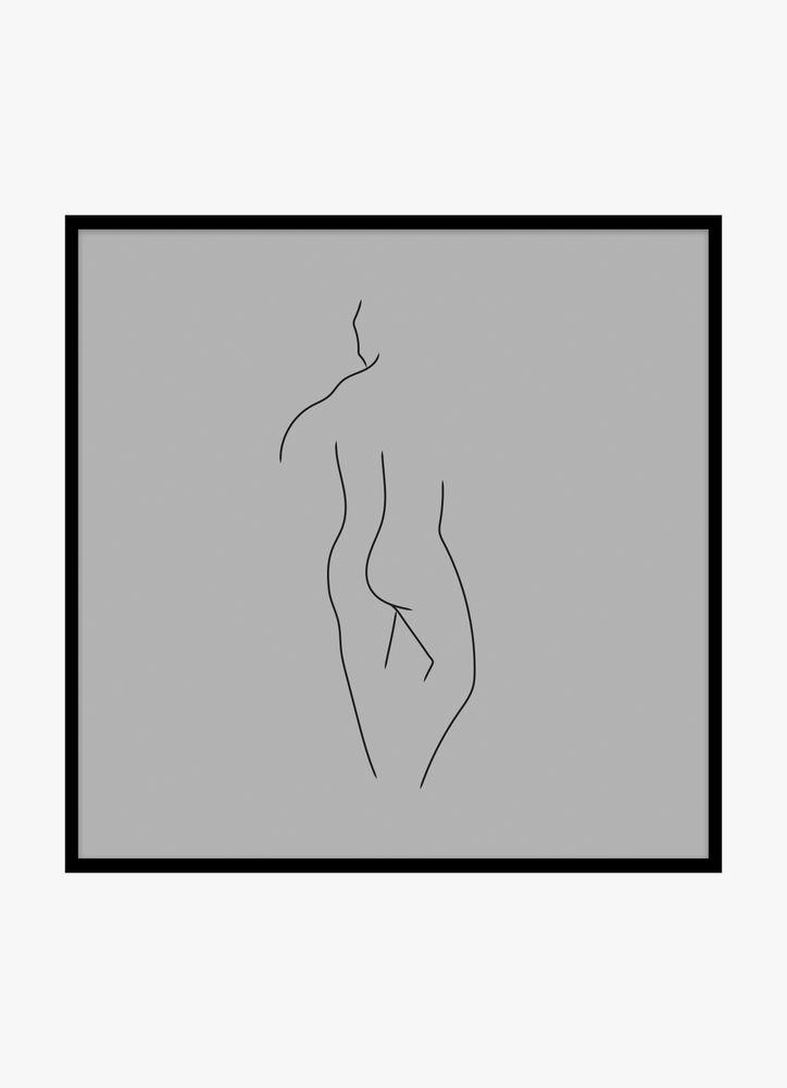 Kropp man grå