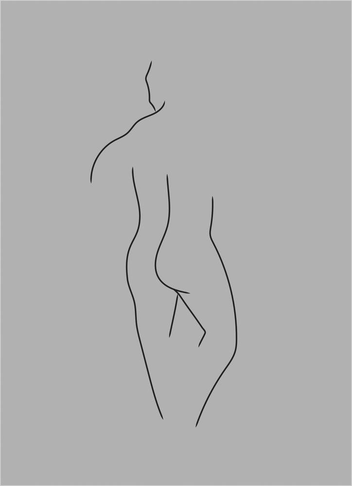 Kropp man grå poster