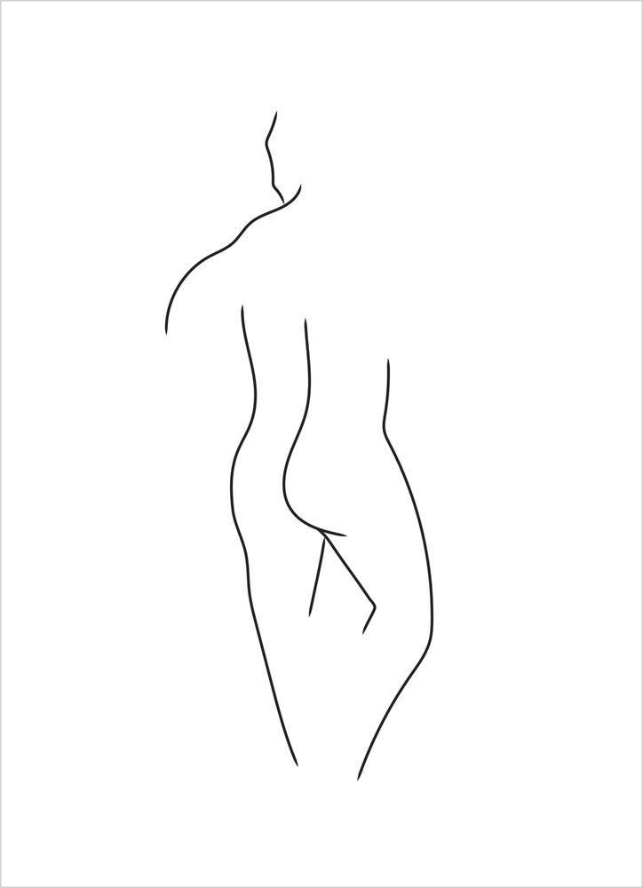 Kropp man vit poster