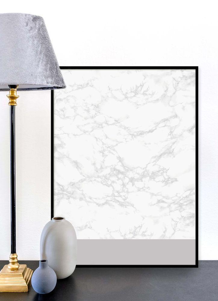 Marmor grå poster