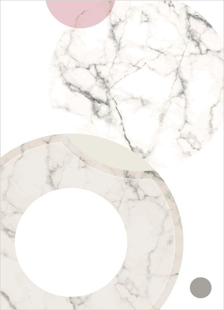 Marmor rosa cirklar mönster poster