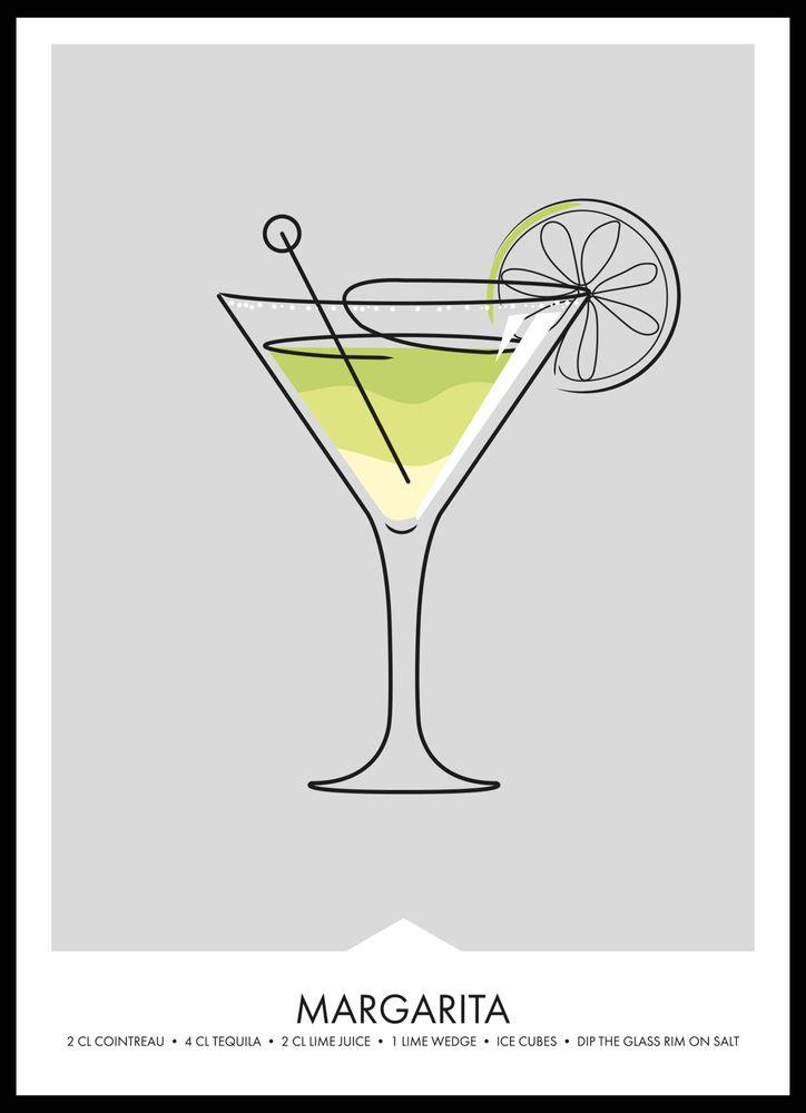 Margarita drink poster