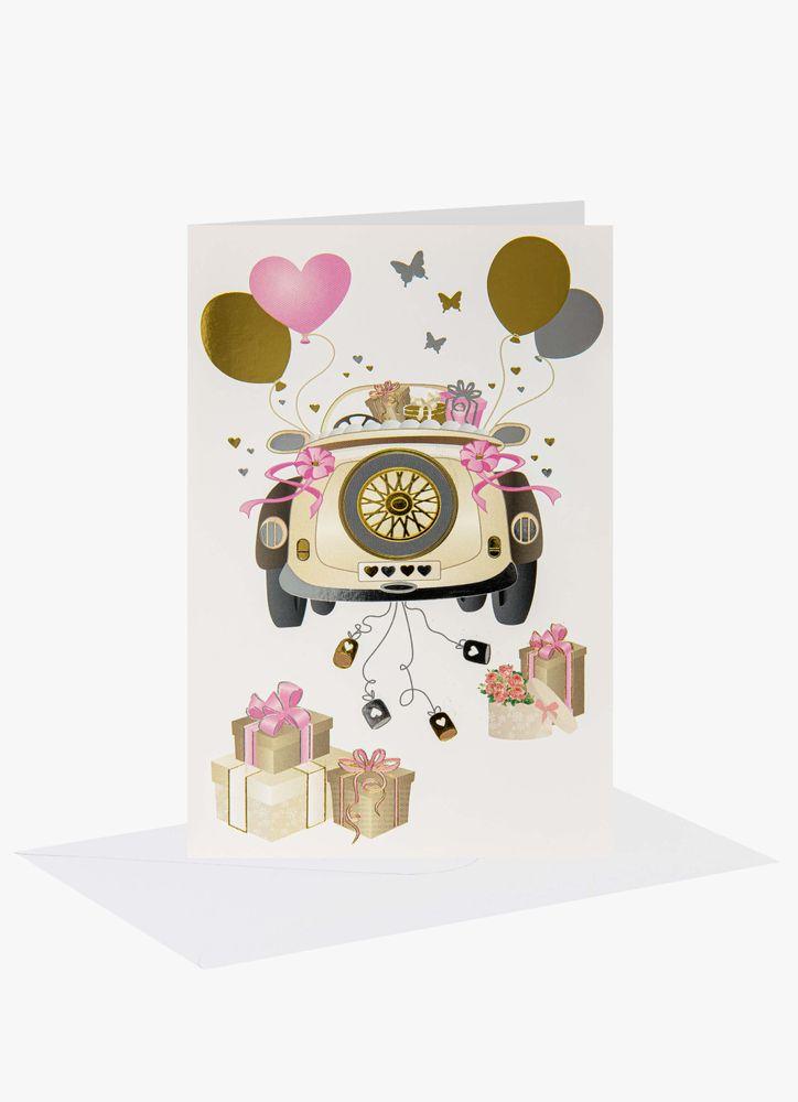 Bröllopsbil gratulationskort