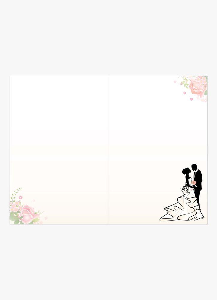 Bröllopspar siluett