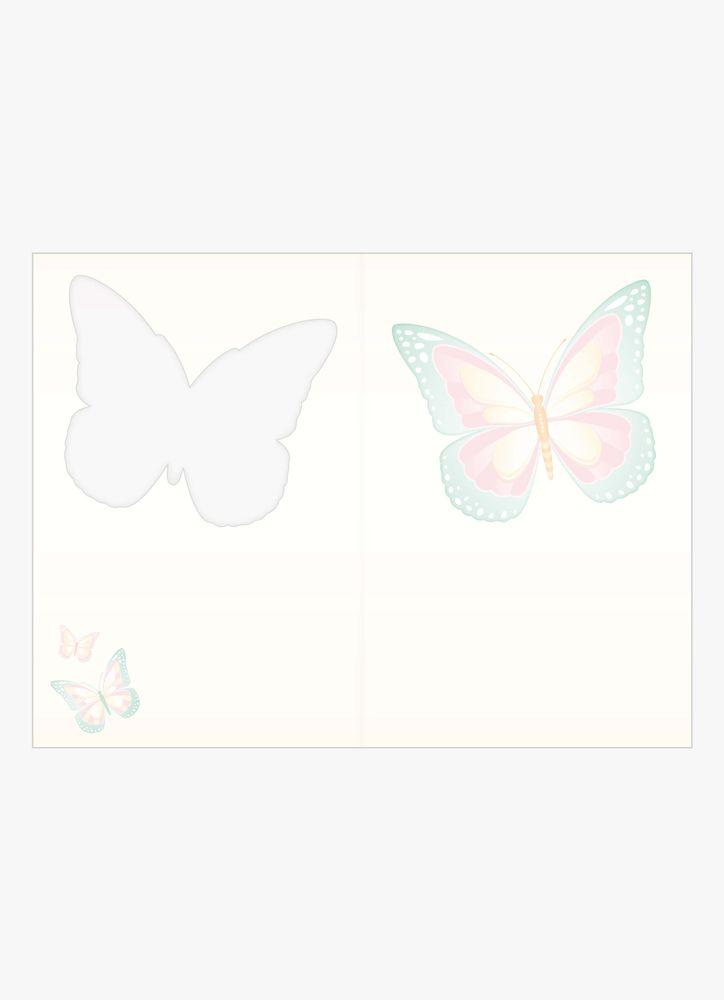 Fjärilar i pastell kort