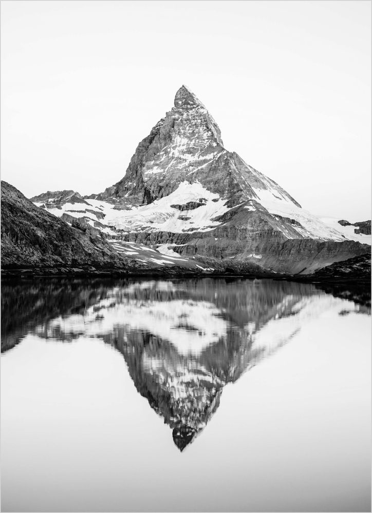 Matterhorn svartvit poster