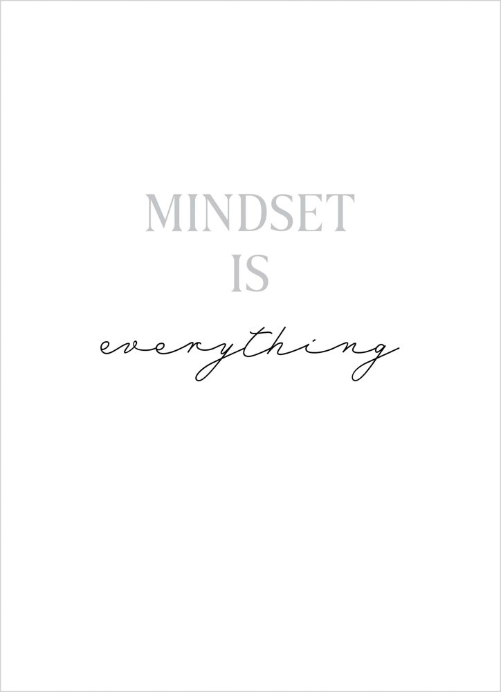 Mindset text poster
