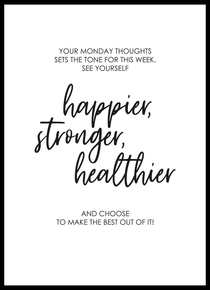 Monday thoughts poster