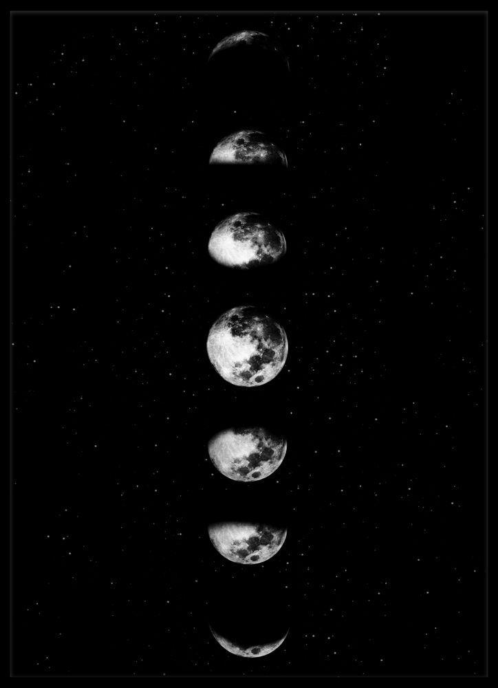 Faser månen poster