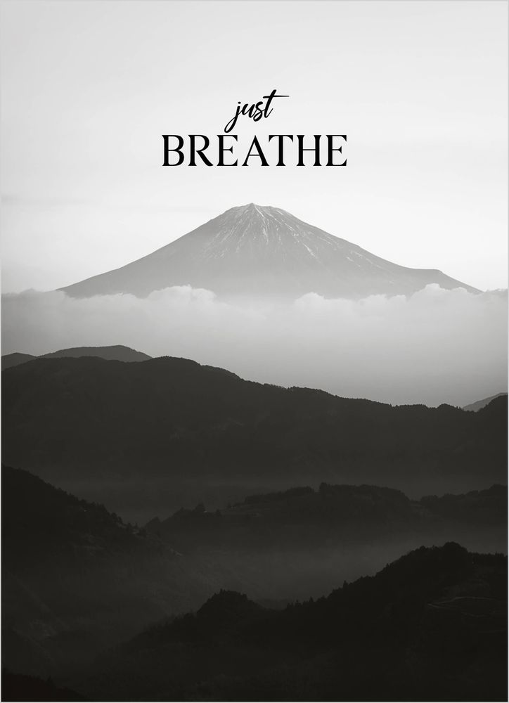 Mountain breathe text poster