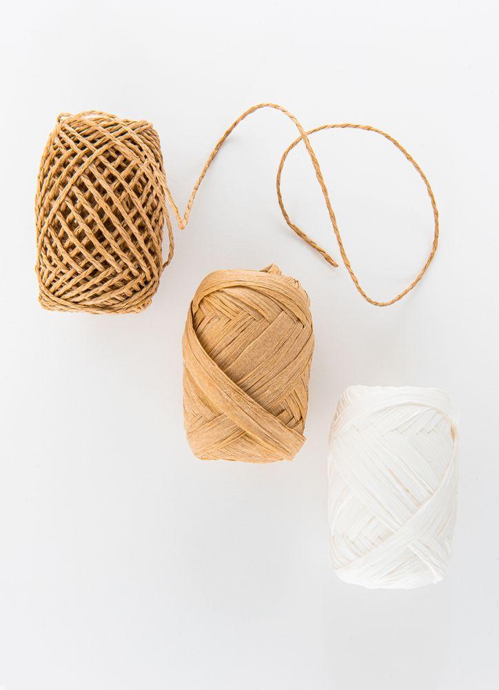 3-pack presentsnöre vitt, natur, tvistad natur