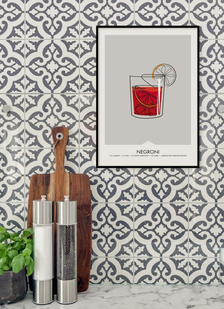Negroni drink poster