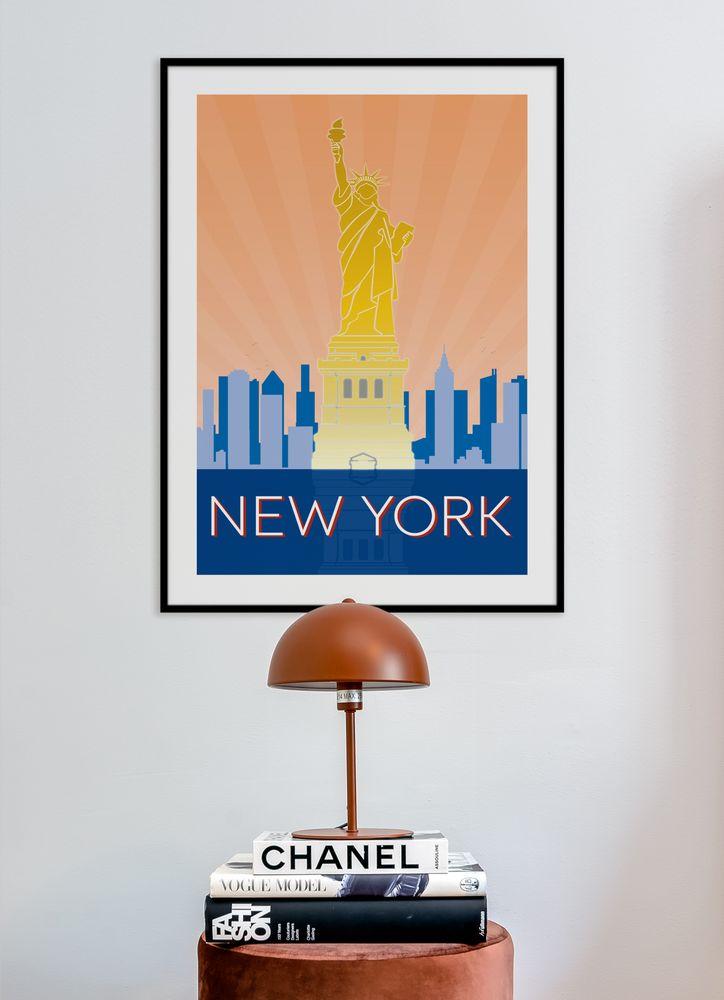 New York retro poster