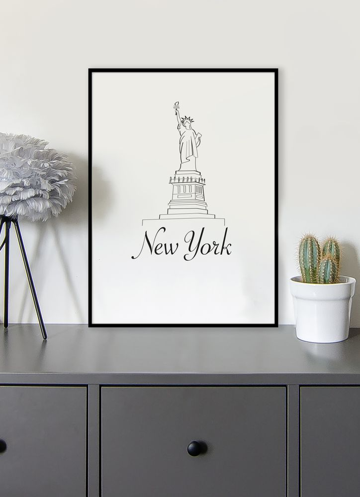 New York skiss poster