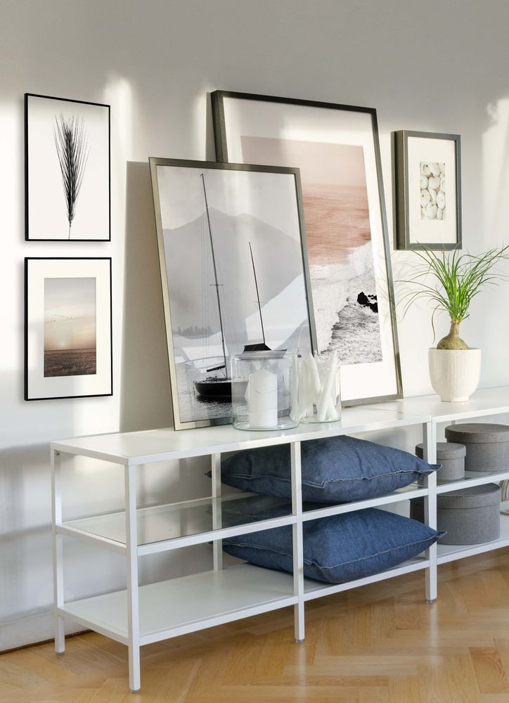 Ocean theme in the livingroom gallery wall poster