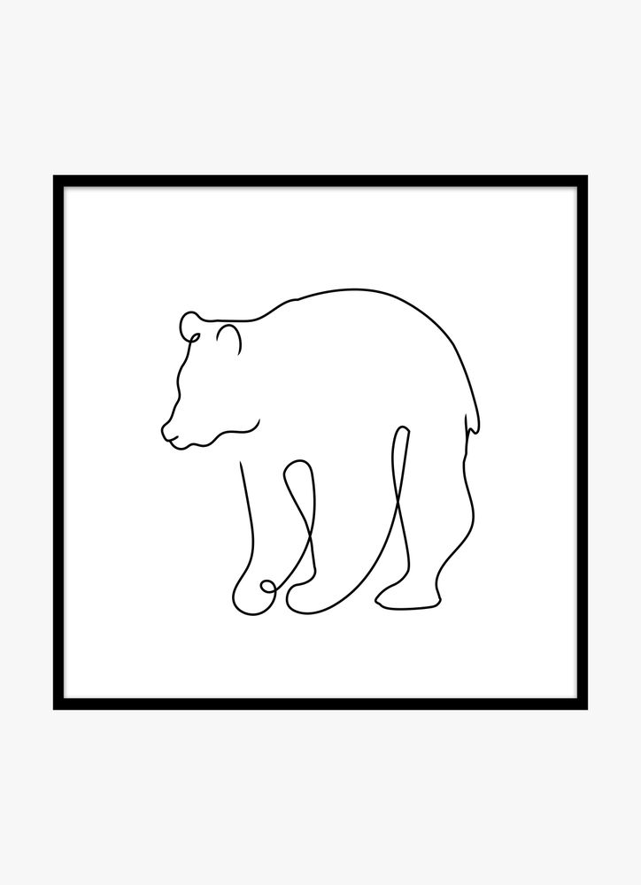 Björn skiss poster