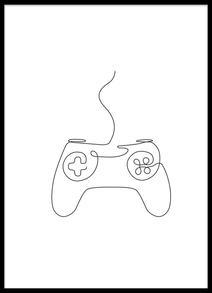 TV-spelskontroll skiss poster