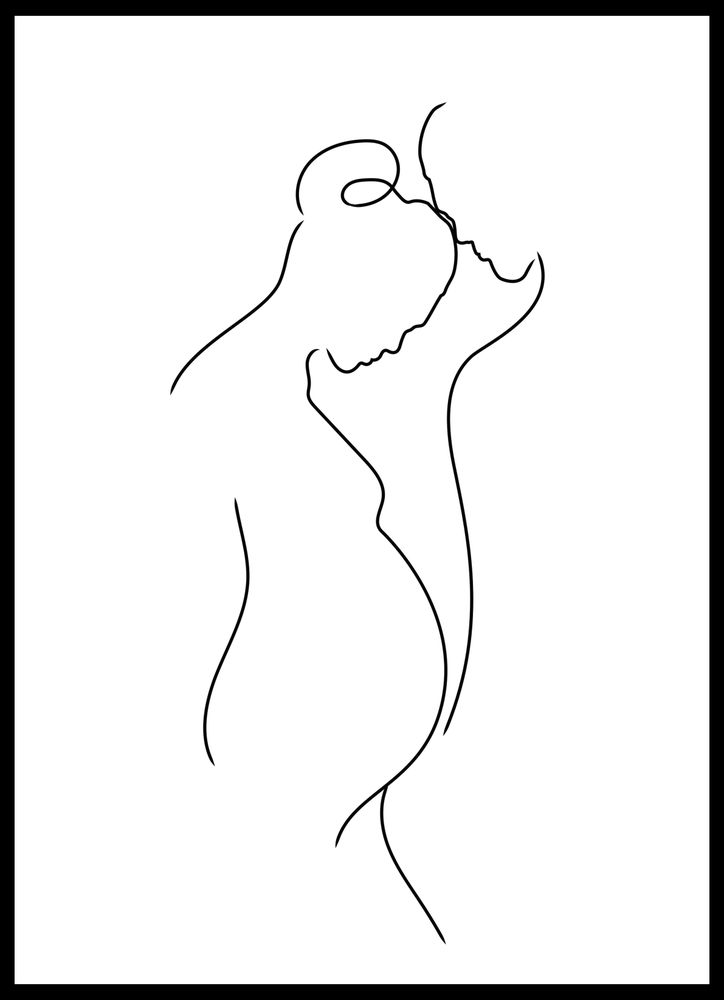 Gravid skiss poster