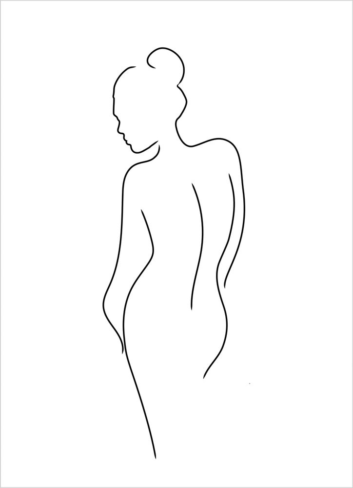 Outline woman poster