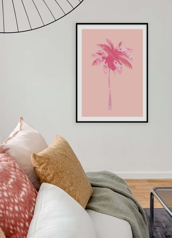 Palm rosa mönster poster