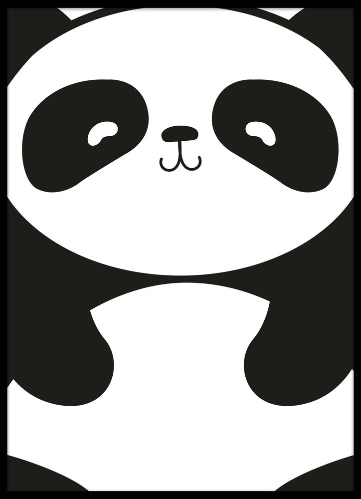 Tecknad panda poster