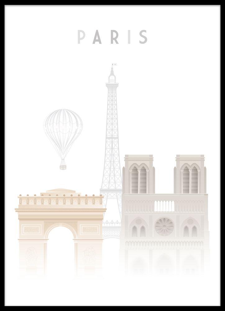 Paris modern poster