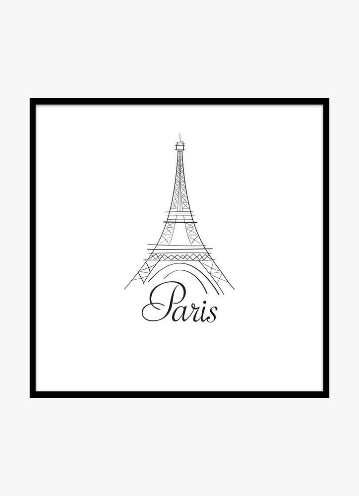 Paris skiss poster