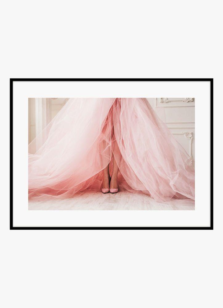 Klänning persika poster