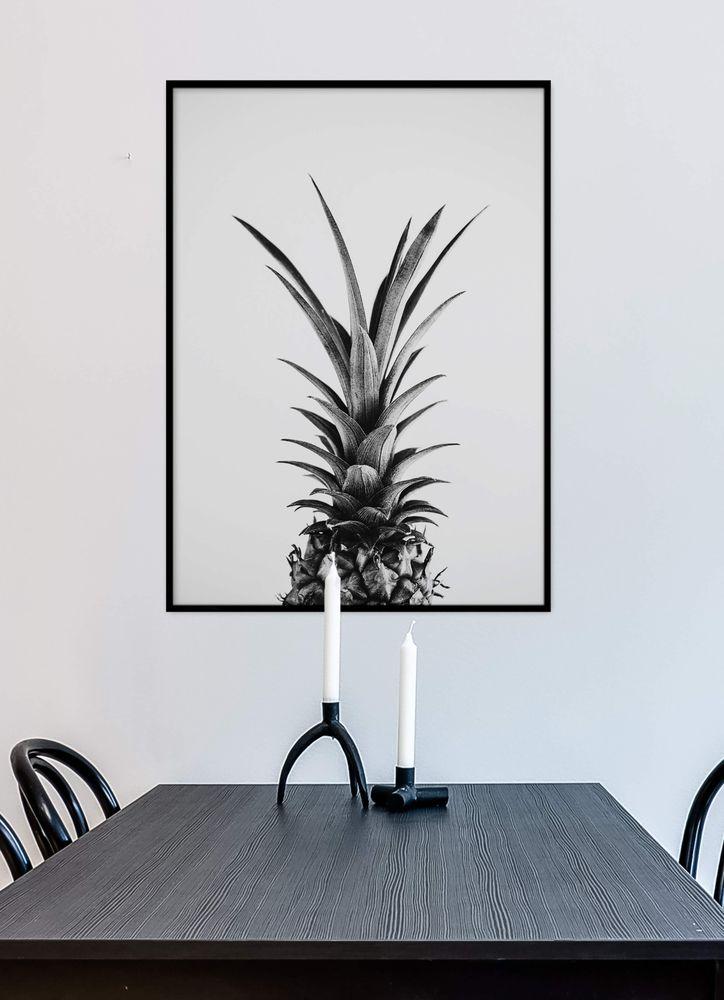 Ananas svartvit poster