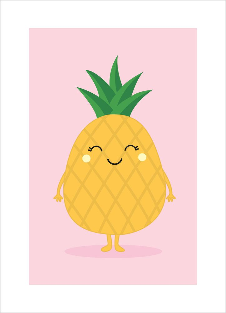 Glad ananas poster