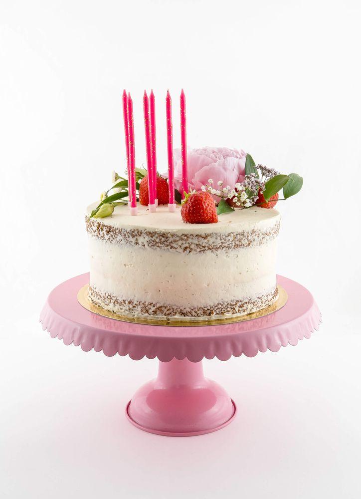 Tårtljus rosa