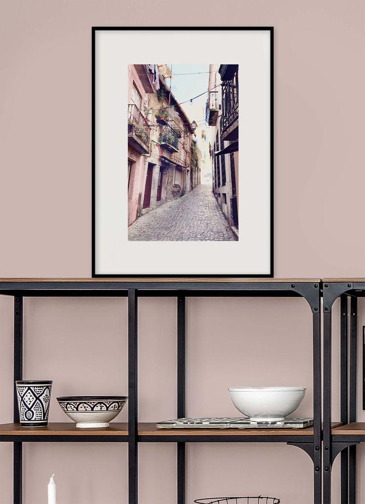 Rosa gränd Lissbon poster