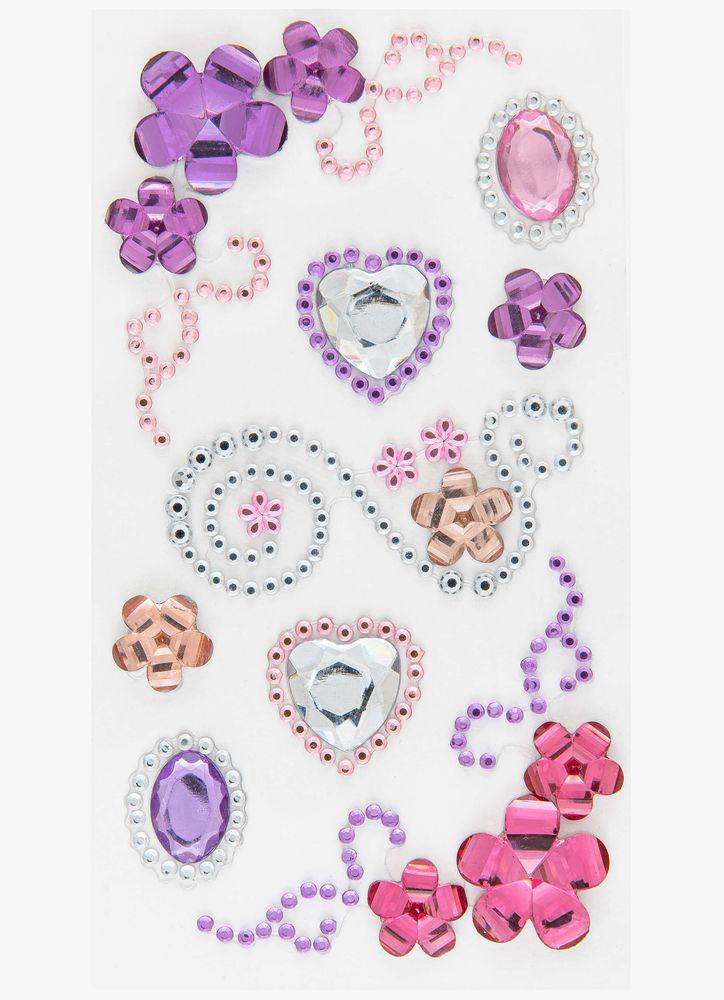 Pärlklistermärken blommor