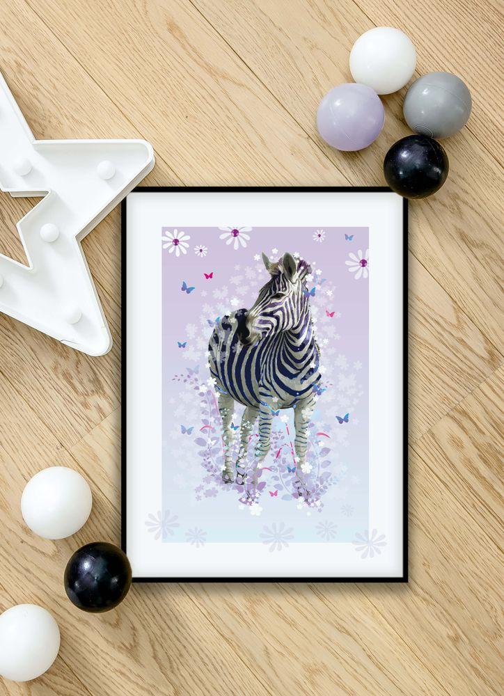 Lila zebra poster