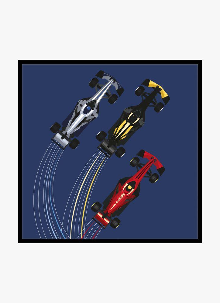 Racing cars poster