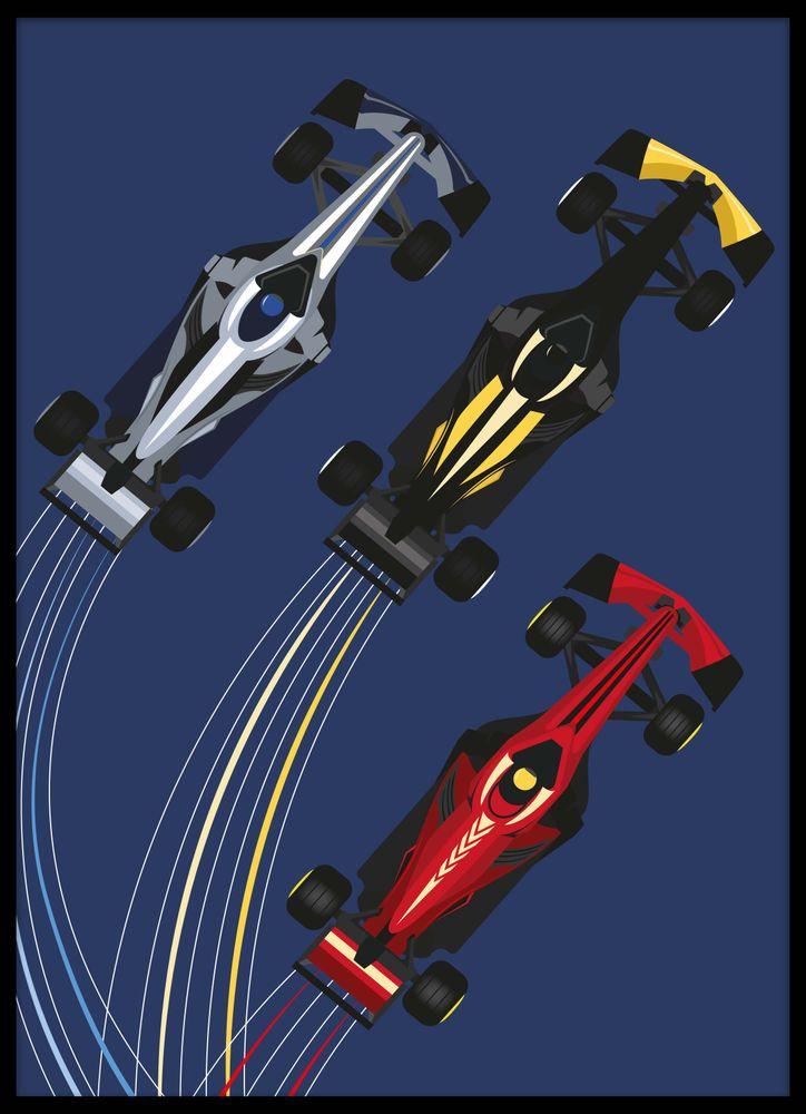 Racerbilar poster