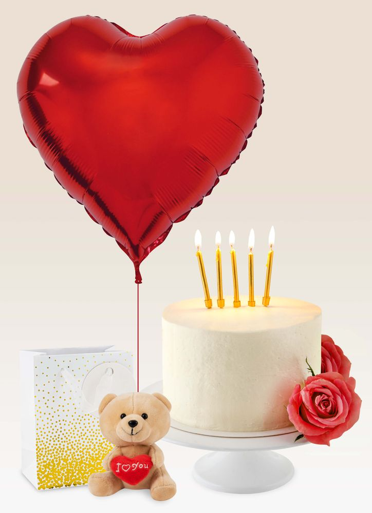 Hjärtballong i röd folie