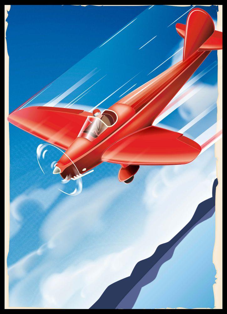 Retro flygplan poster